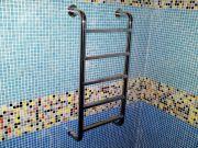 Лестница из нержавеющей стали. Установка на стену бассейна.