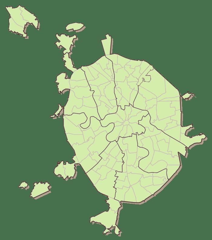 карта москвы с границами округов на картинке ход церковный