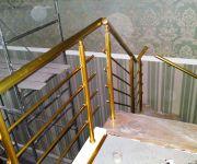 Перила алюминиевые анодированные, цвет «золото»